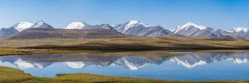 Bergpanorama Kirgizië van Jeroen Kleiberg