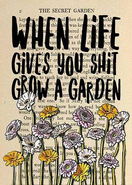 The Secret Garden lustiger Gärtner Spruch von KalliDesignShop
