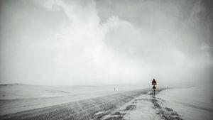 Sneeuwstorm - IJsland van
