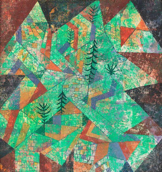 Wald Bau, Paul Klee von Meesterlijcke Meesters