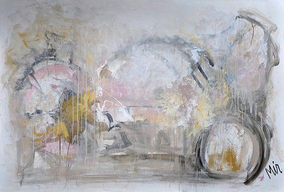 Golden touche Abstract schilderij