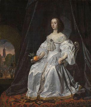 Maria Stuart als Witwe von Willem II., Bartholomeus van der Helst von