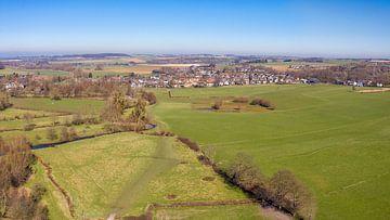 Luchtfoto van het Geuldal in Zuid-Limburg