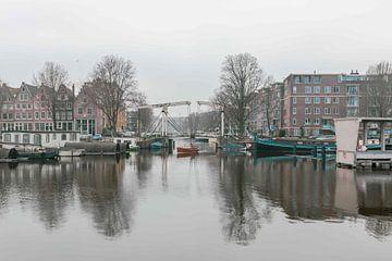 Amsterdam grachten Nederland van Déwy de Wit
