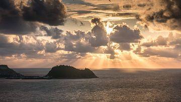 zonsondergang noord spanje van t.a.m. postma