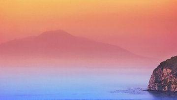 Italië Golf van Napels Vesuvius van Dirk van der Ven