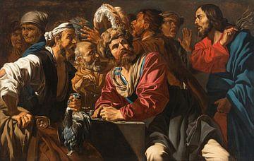 Christus, der die Geldwechsler aus dem Tempel jagt, Matthias Stom