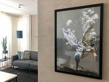Klantfoto: Vissende ijsvogel van Tariq La Brijn, als fotoprint