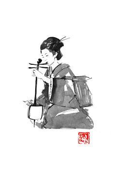geisha spelen van Péchane Sumie