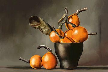 Gemälde eines Stilllebens mit Orangen von Tanja Udelhofen
