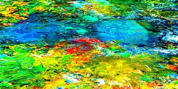 abstrakte Malerei Komp. 022G  limitierte Auflage 1-100