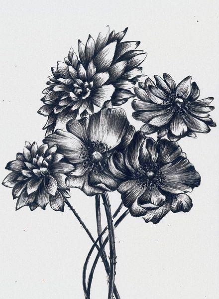 Flower Bouquet 2 van Maria Kitano
