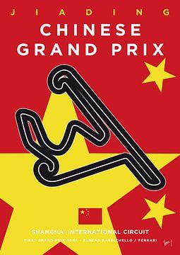 My F1 Shanghai Race Track Minimal Poster van Chungkong Art