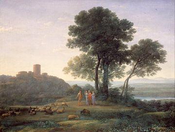 Claude Lorrain. Jacob mit Laban und seinen Töchtern