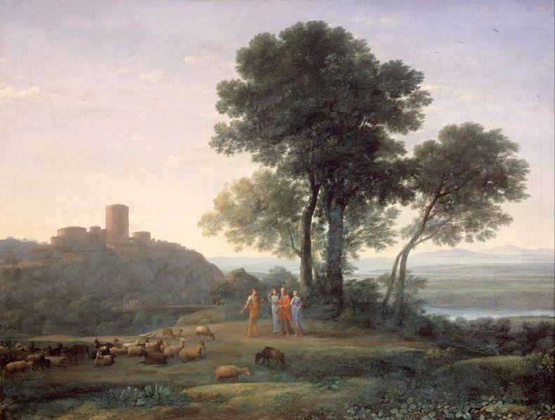Claude Lorrain. Jacob met Laban en zijn dochters van 1000 Schilderijen