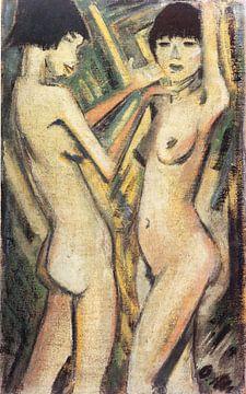Zwei Mädchen, Otto Mueller - um 1920 von Atelier Liesjes
