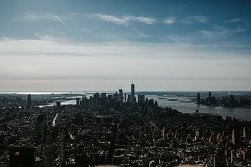 Skyline New York vom Empire State Building | Farbenfrohe Reisefotografie von Trix Leeflang