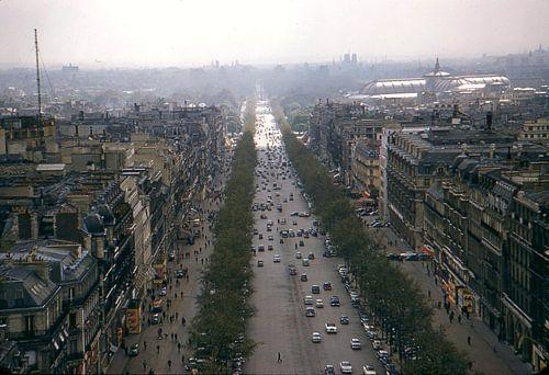 Vintage foto Parijs 1957 van