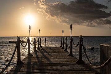 Zonsondergang Curacao van Gertjan Hesselink