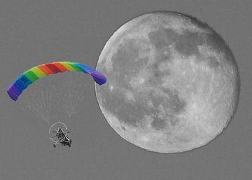 maan vlucht met parapente van Gonnie van Hove