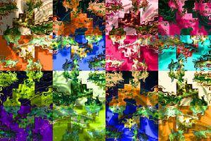 Abstrakte digitale Arbeit