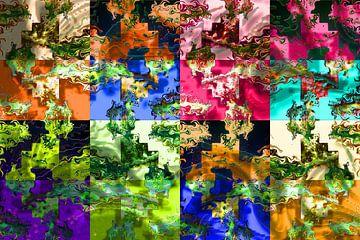 Abstrakte digitale Arbeit von Ton Kuijpers