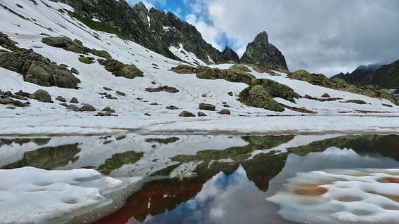 Spiegeling in Rood Meer - Lago Leit van Felina Photography