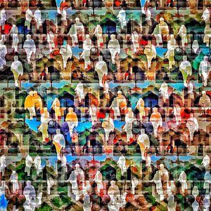 Kleurrijke optocht van Ruben van Gogh