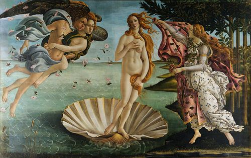 Schilderij Botticelli De Geboorte van Venus