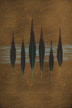 Bladeren / veren van Studio Malabar