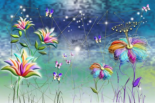 Bloemen fantasiewereld
