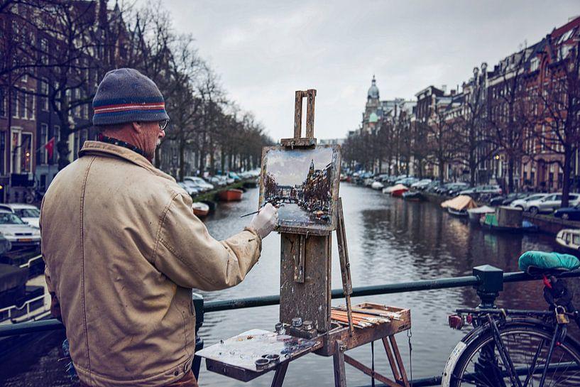 Painting Amsterdam van VanEis Fotografie