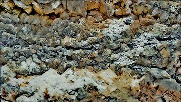 Kristallen van een Zoutafzetting op Gesteente - Abstract - Figuratief - Haliet - Schilderij