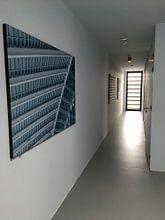 Klantfoto: Minimalisme in het Utrechtse stationsgebied: Utrecht Centraal van De Utrechtse Internet Courant (DUIC), als print op doek