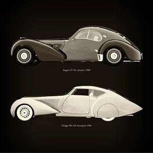 Bugatti 57-SC Atlantic 1938 et Delage D8-120 Aerosport 1938