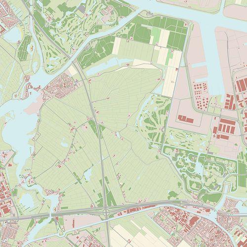 Kaart vanHaarlemmerliede en Spaarnwoude
