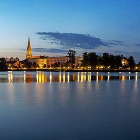 Panorama de Schwerin à l'heure bleue sur Frank Herrmann