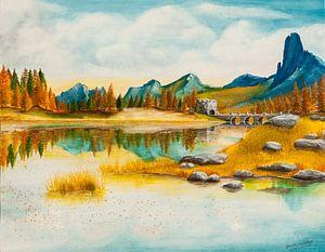 Herbstliche Landschaft von David Soekana