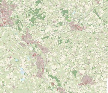 Kaart vanOude IJsselstreek van Rebel Ontwerp