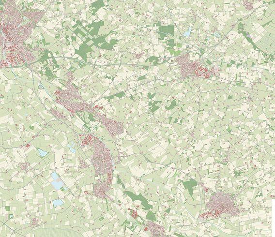 Kaart vanOude IJsselstreek