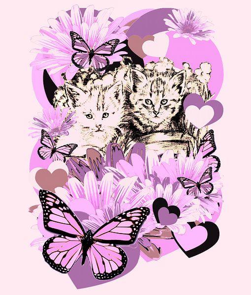 Frieda's Baby Cats in Pink von Gitta Gläser
