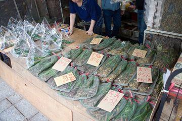 Insectenverkoop op de vogelmarkt van Hong Kong van t.ART