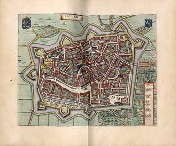 Leeuwarden, Stadsplattegrond Joan Blaeu 1652 van Atelier Liesjes