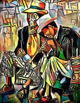 Deux musiciens sur zam art