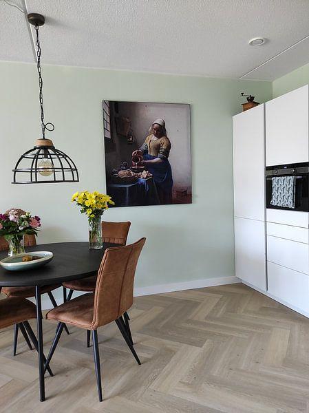 Photo de nos clients: La Laitière - Vermeer tableau