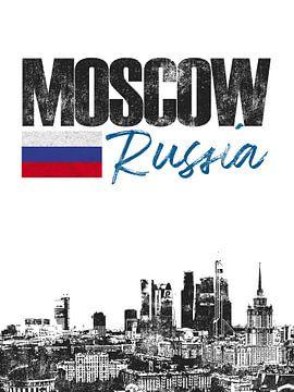 Moskou Rusland van Printed Artings