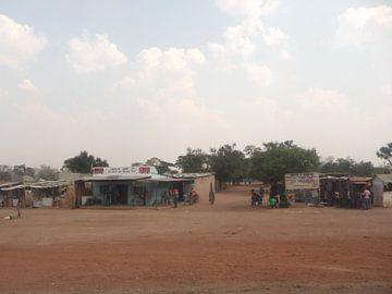 'Winkels langs de weg', Zambia van Martine Joanne