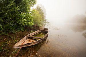 Mistige ochtend lands de Dordogne