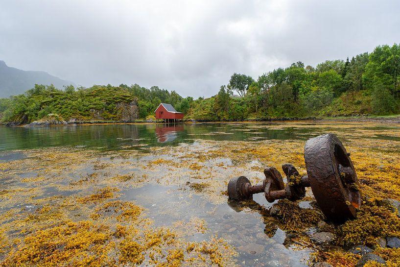 Landschap Lofoten Noorwegen van Jeroen Kleiberg