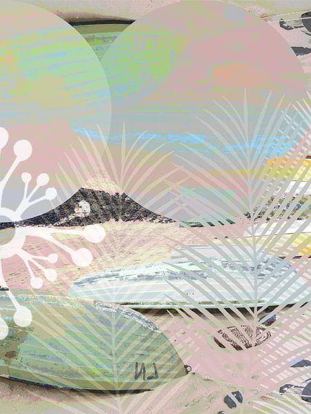 BOATS INTO A SURREAL GRAPHIC WORLD v4 van Pia Schneider